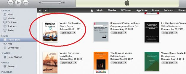 Venice for Rookies Travel Guide available in the iTunes Store